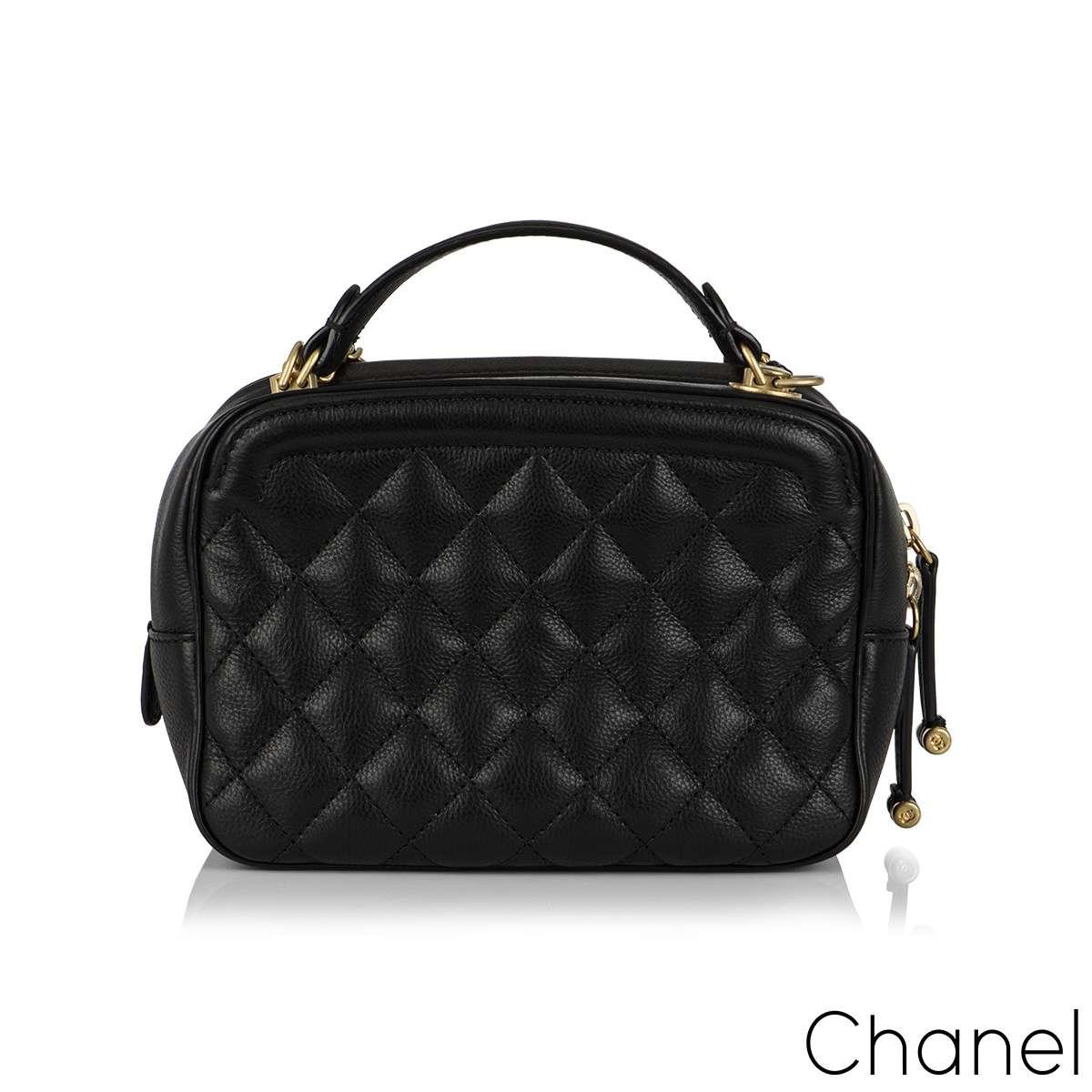 Chanel CC Filigree Vanity Case Bag